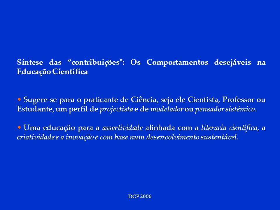 DCP 2006 Síntese das contribuições