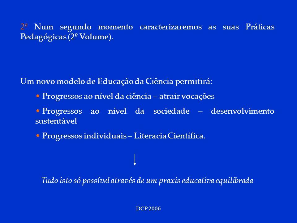 DCP 2006 2º Num segundo momento caracterizaremos as suas Práticas Pedagógicas (2º Volume).