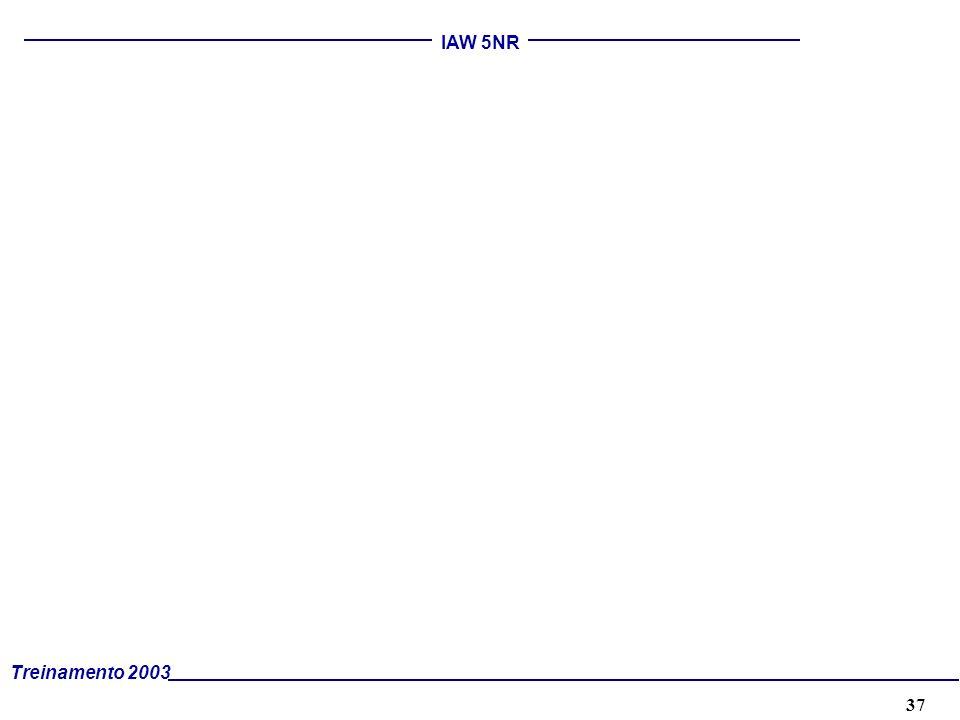 37 Treinamento 2003 IAW 5NR