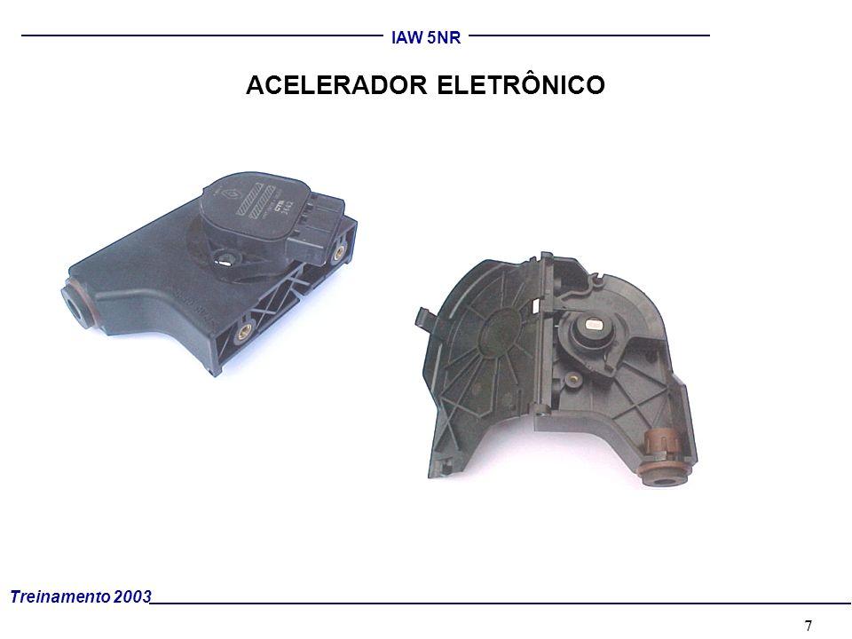 8 Treinamento 2003 IAW 5NR COLETOR INTEGRADO (Motor coletor integrado) O COLETOR INTEGRADO INCLUI OS SEGUINTES CONJUNTOS : –Tampa do cabeçote e central eletrônica.