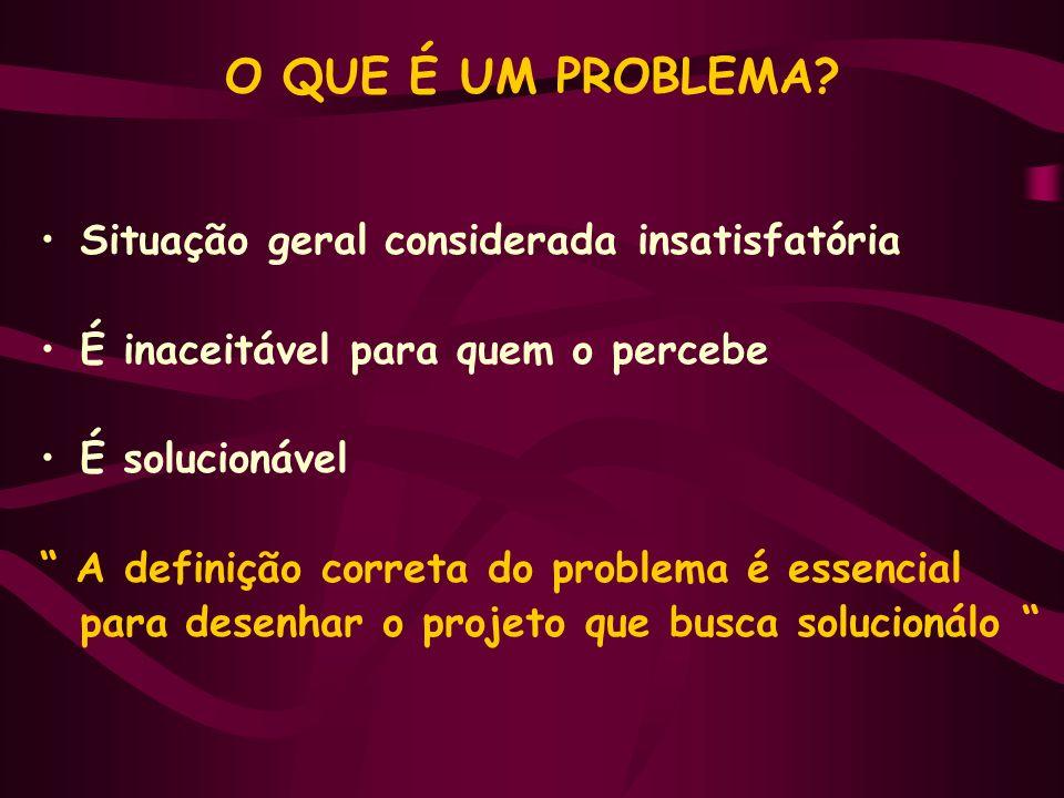 O QUE É UM PROBLEMA.