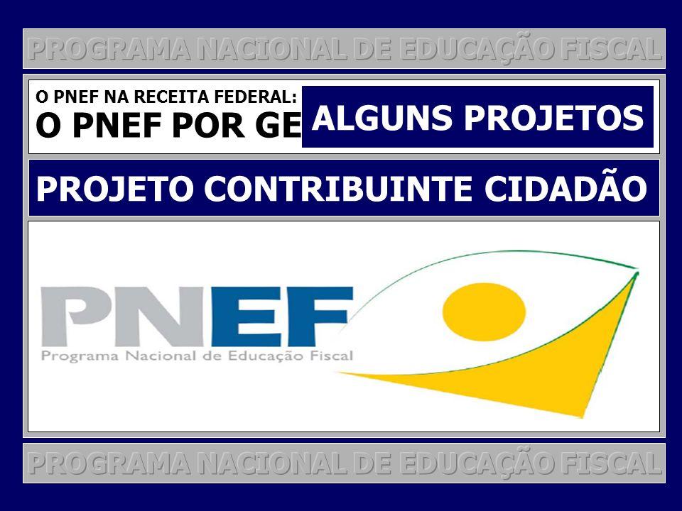 PROGRAMA DE EDUCAÇÃO FISCAL NA SRF PROJETO CONTRIBUINTE-CIDADÃO