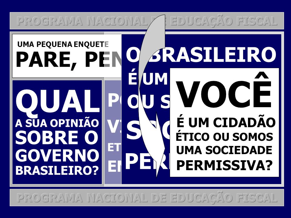 PNEF MÓDULOS PROGRAMÁTICOS MÓDULO 1: ESCOLAS DE ENSINO FUNDAMENTAL MÓDULO 2: ESCOLAS DE ENSINO MÉDIO MÓDULO 3: UNIVERSIDADES PÚBLICAS E PRIVADAS MÓDULO 4: SECRETARIAS DA FAZENDA E EDUCAÇÃO MÓDULO 5: A SOCIEDADE EM GERAL TRANSVERSALIDADE CURRICULAR TEMAS PROGRAMÁTICOS: CIDADANIA RELAÇÕES ESTADO-GOVERNO-CIDADÃO E CONSTITUCIONALIDADE TRIBUTAÇÃO GESTÃO PÚBLICA E PARTICIPAÇÃO SOCIAL GESTÃO DEMOCRÁTICA DE RECURSOS PÚBLICOS E CONTROLE SOCIAL RESPONSABILIDADE SOCIAL E FISCAL EDUCAÇÃO FISCAL: O VIÉS DA CONSCIENTIZAÇÃO E O VIÉS DA SENSIBILIZAÇÃO