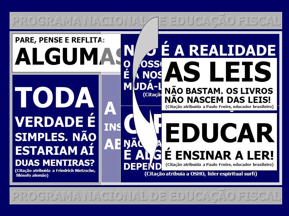 O PNEF NA RECEITA FEDERAL: O PNEF POR GESTÃO DE PROJETOS ALGUNS PROJETOS JORNADA ESTUDANTIL DE CIDADANIA FISCAL EM PARCERIA COM OS PROFESSORES E TÉCNICOS DA INSTITUIÇÃO E EM CONFORMIDADE COM O PROJETO POLÍTICO PEDAGÓGICO PALESTRAS DINÂMICAS DE GRUPO OFICINAS JORNADA DE ATUALIZAÇÃO TRIBUTÁRIA PARA CONTABILISTAS APRESENTAÇÃO DE TEMAS TÉCNICOS COM VIÉS EM EDUCAÇÃO FISCAL (MOMENTOS PNEF) PARCERIAS: CRC UNIVERSIDADES SEFAF SEFIN