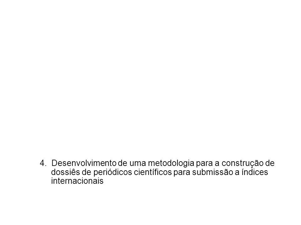 4. Desenvolvimento de uma metodologia para a construção de dossiês de periódicos científicos para submissão a índices internacionais