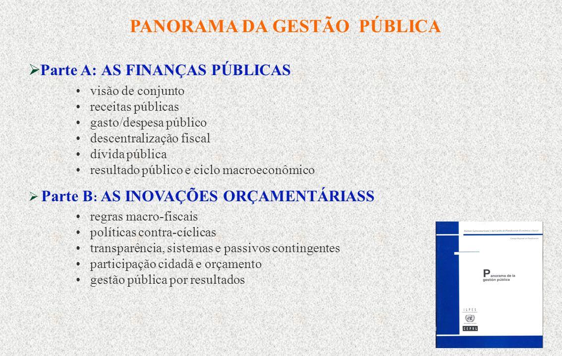 1 POLÍTICAS ORÇAMENTÁRIAS E GESTÃO PÚBLICA POR RESULTADOS Curso- Seminário Políticas orçamentárias e gestão pública por resultados Brasília, 25 a 28 de julho de 2006 Ricardo Martner Área de Políticas Presupuestarias y Gestión Pública ILPES, CEPAL, Nações Unidas