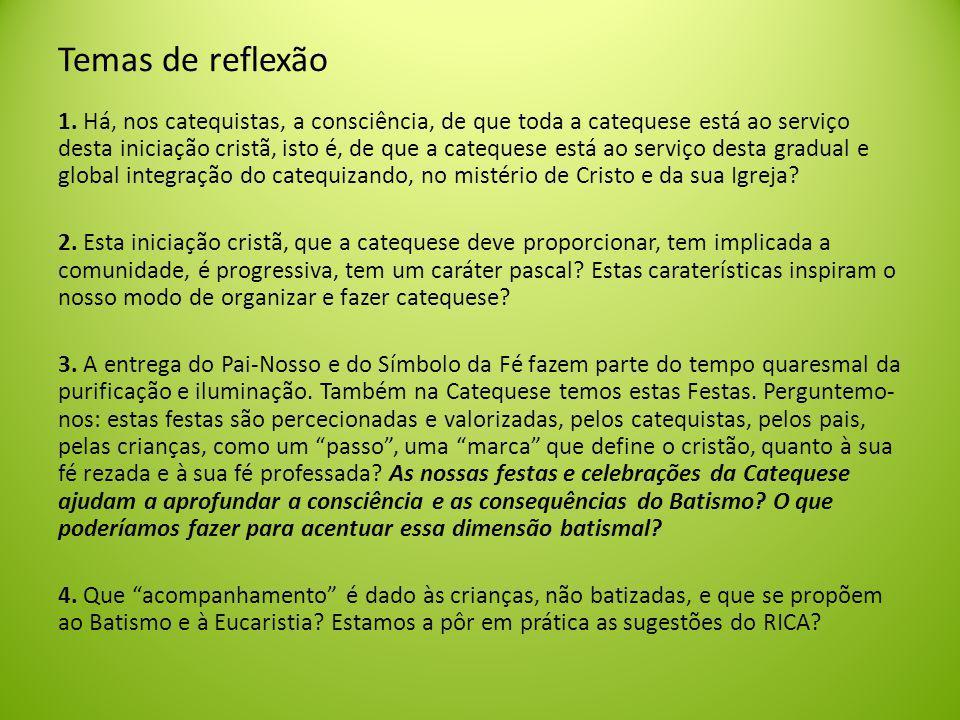 Temas de reflexão 1.