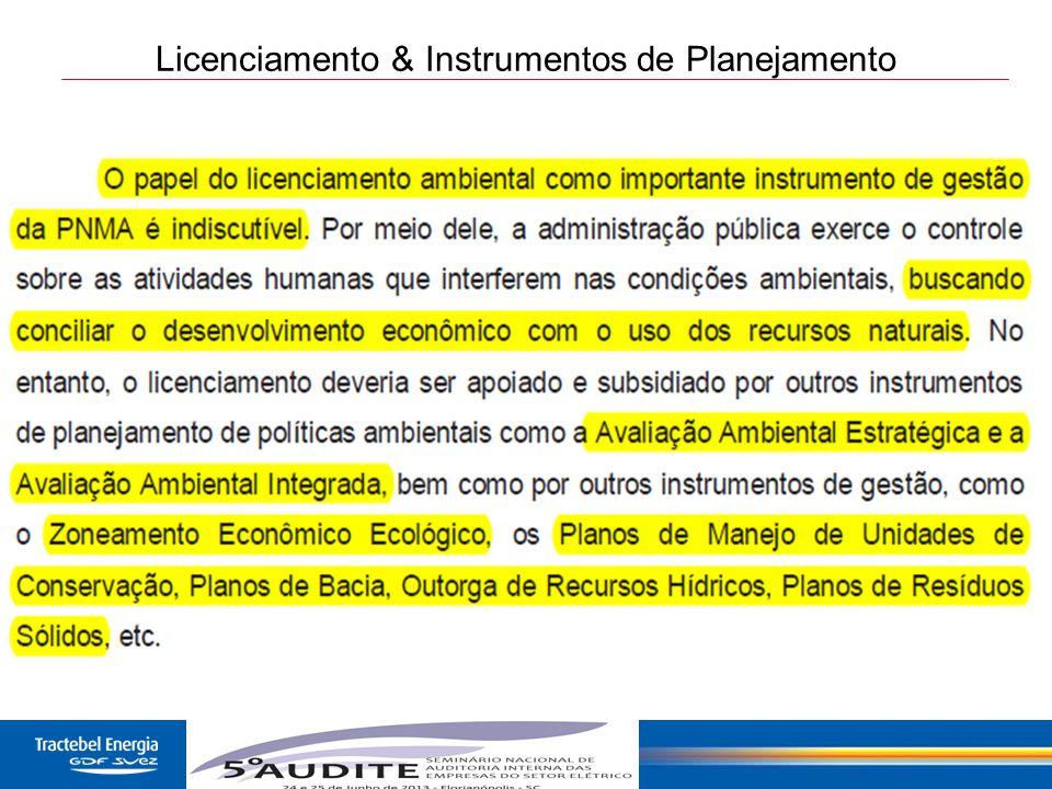 12 Licenciamento & Instrumentos de Planejamento