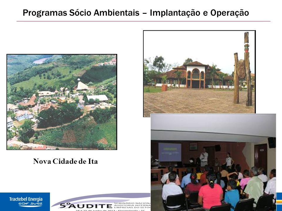 26 Programas Sócio Ambientais – Implantação e Operação Nova Cidade de Ita