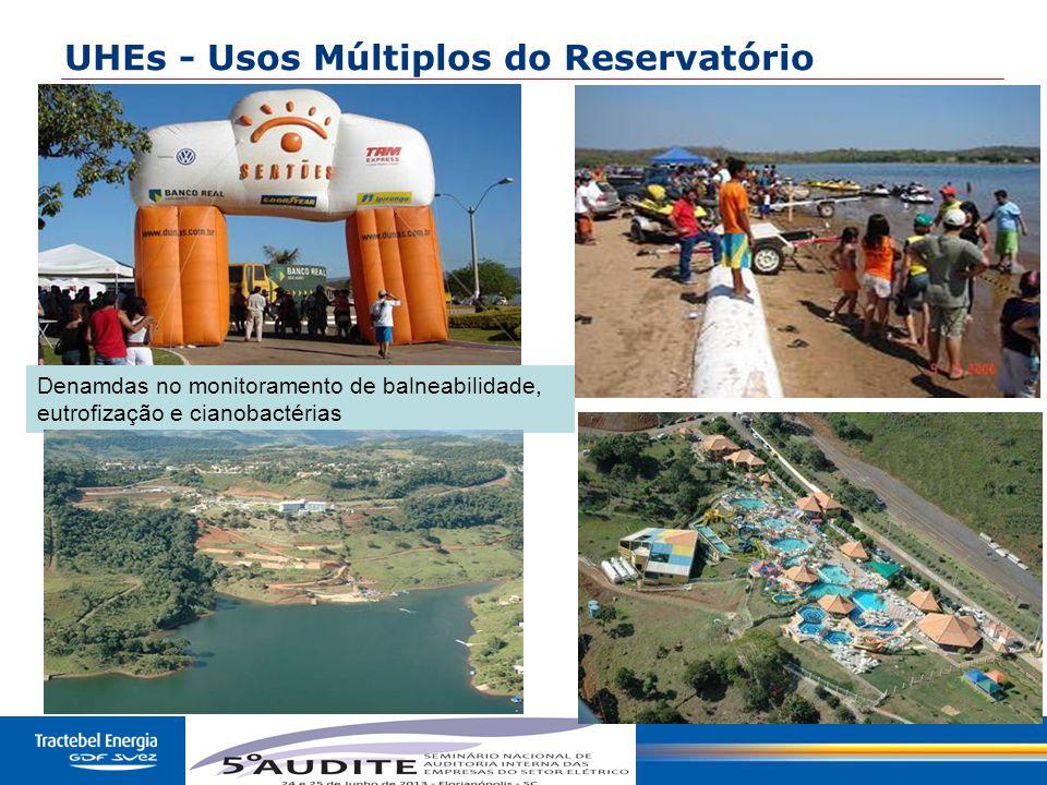 30 UHEs - Usos Múltiplos do Reservatório Denamdas no monitoramento de balneabilidade, eutrofização e cianobactérias