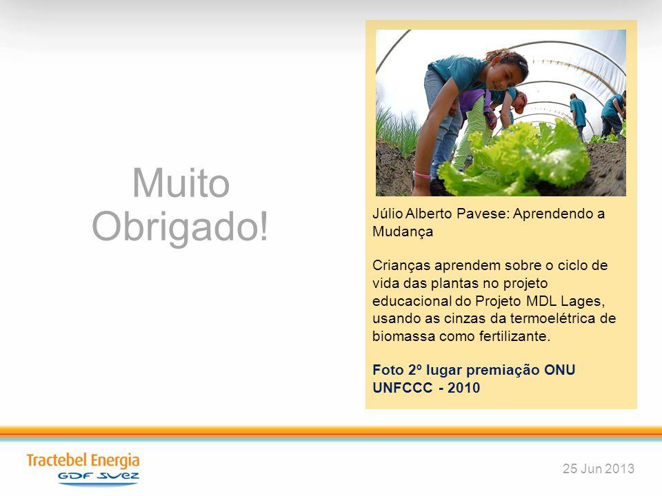 51 Muito Obrigado! 25 Jun 2013 Júlio Alberto Pavese: Aprendendo a Mudança Crianças aprendem sobre o ciclo de vida das plantas no projeto educacional d