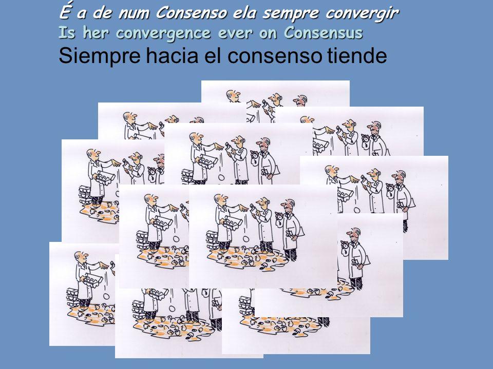 É a de num Consenso ela sempre convergir Is her convergence ever on Consensus Siempre hacia el consenso tiende