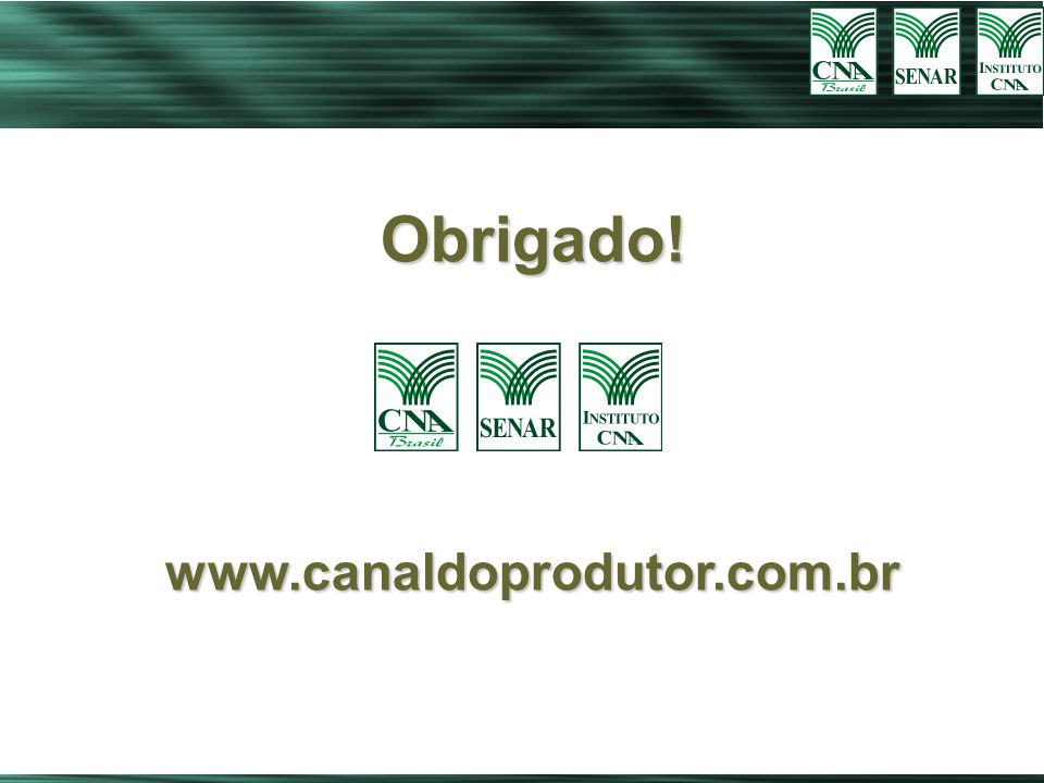 CONNECTION PESQUISA E ANÁLISE DE MERCADO Obrigado!www.canaldoprodutor.com.br