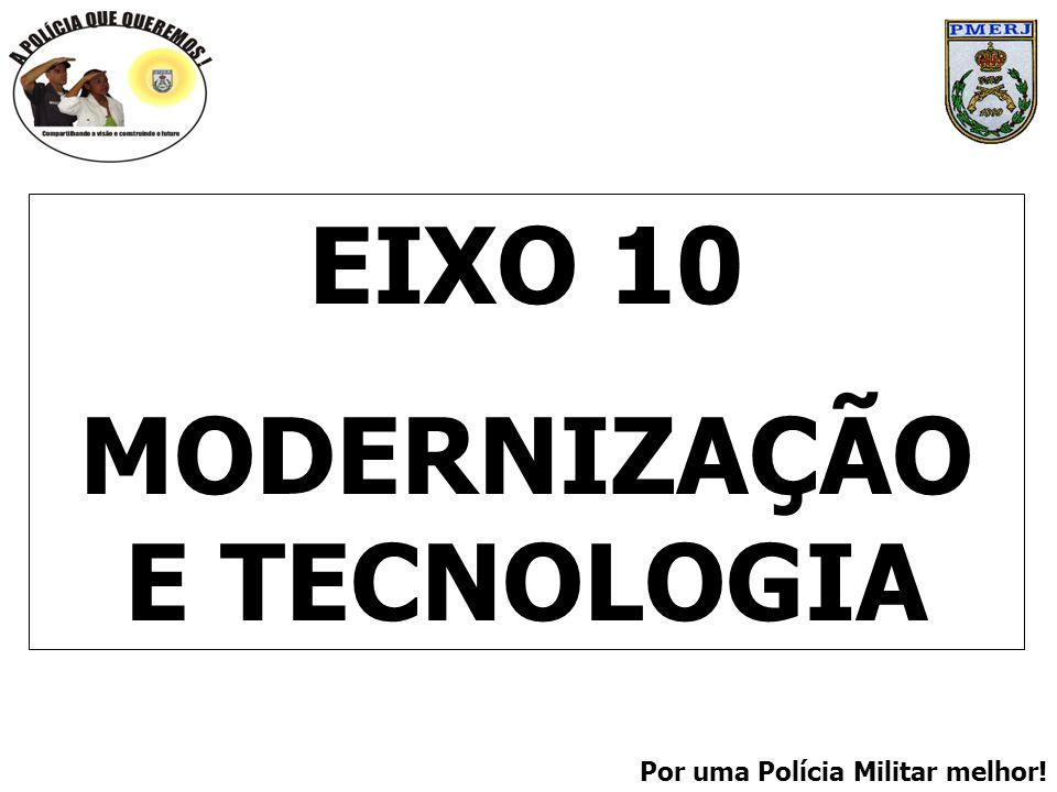 Por uma Polícia Militar melhor! EIXO 10 MODERNIZAÇÃO E TECNOLOGIA