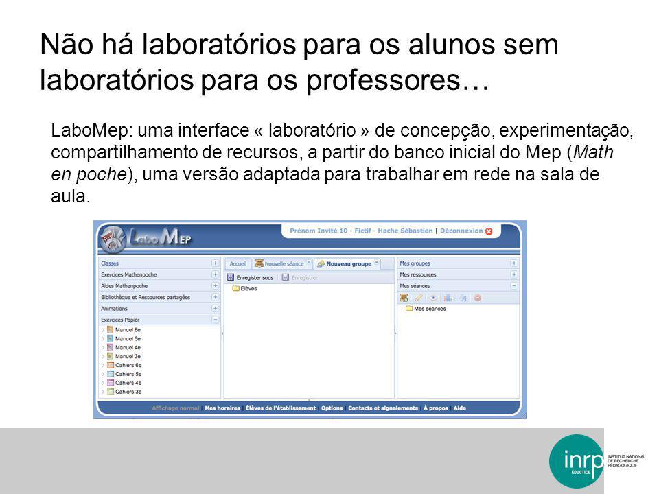 LaboMep: uma interface « laboratório » de concepção, experimentação, compartilhamento de recursos, a partir do banco inicial do Mep (Math en poche), u