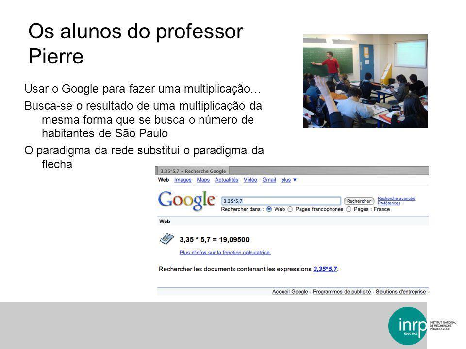 Os alunos do professor Pierre Usar o Google para fazer uma multiplicação… Busca-se o resultado de uma multiplicação da mesma forma que se busca o núme