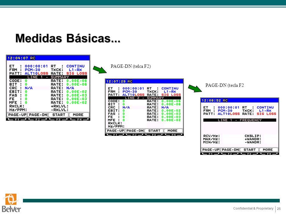 Confidential & Proprietary 25 Medidas Básicas... PAGE-DN (telca F2) PAGE-DN (tecla F2
