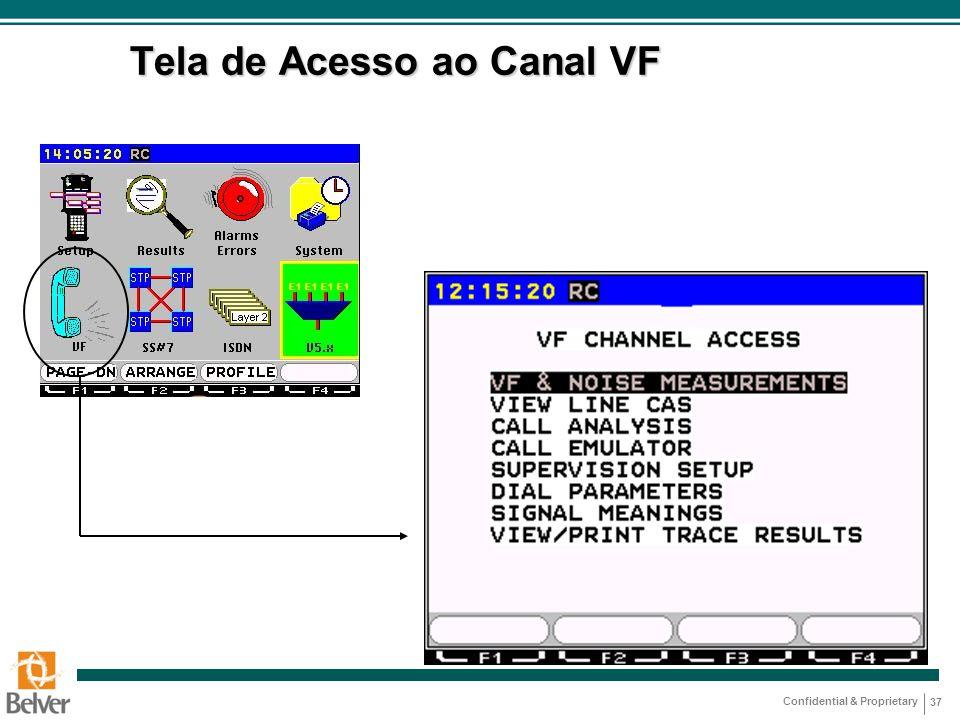 Confidential & Proprietary 37 Tela de Acesso ao Canal VF