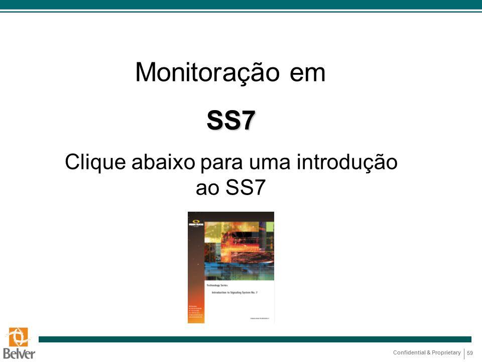 Confidential & Proprietary 59 Monitoração emSS7 Clique abaixo para uma introdução ao SS7