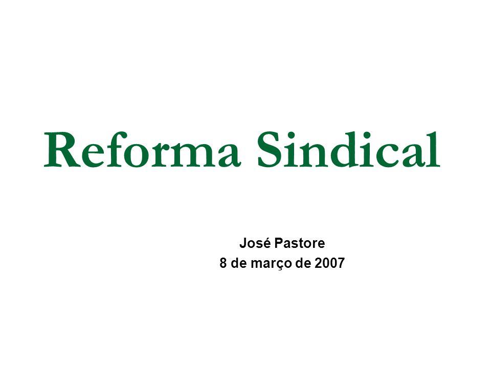 Reforma Sindical José Pastore 8 de março de 2007