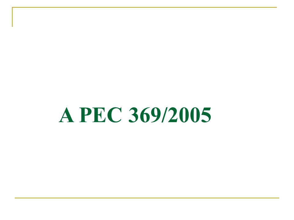 A PEC 369/2005