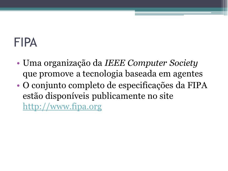 Histórico e Metas Criada em 1996 como uma associação internacional para desenvolver padrões para tecnologia de agentes de software Agentes de software já eram bem conhecidos na comunidade acadêmica, mas tinham recebido pouca atenção do mercado Aceita pelo IEEE em 2005