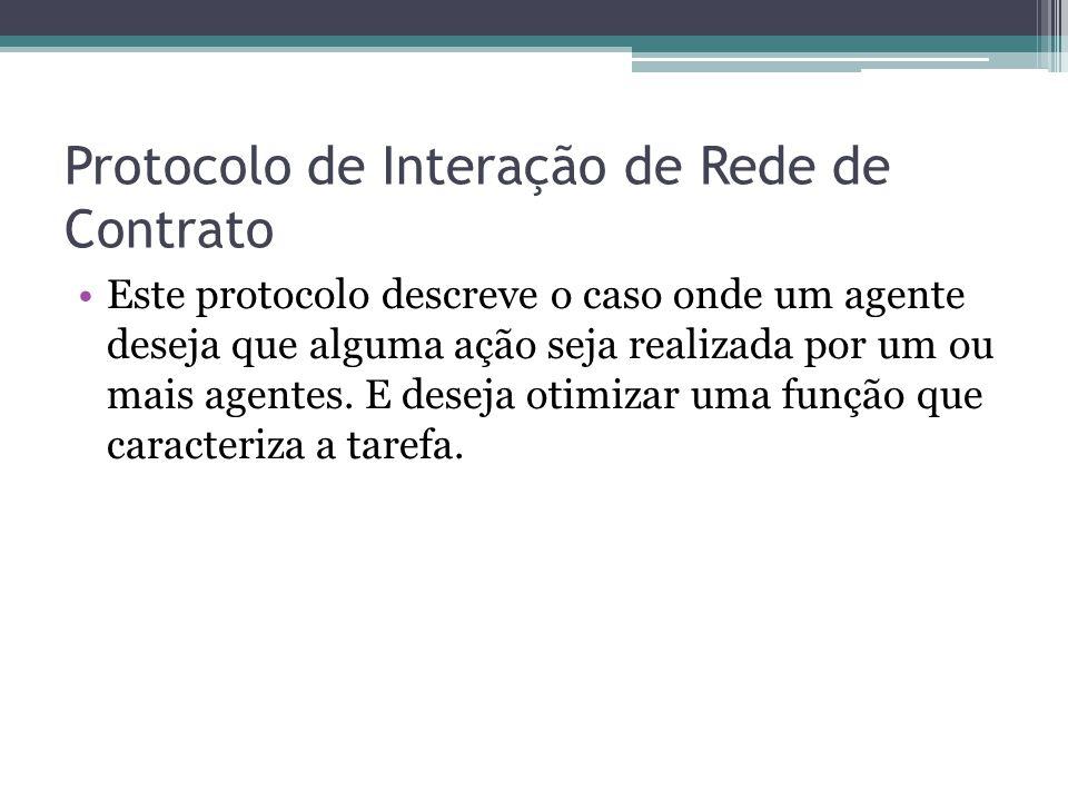 Protocolo de Interação de Rede de Contrato Este protocolo descreve o caso onde um agente deseja que alguma ação seja realizada por um ou mais agentes.