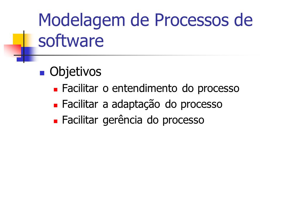 Modelagem de Processos Um processo pode ser descrito textualmente ou através da utilização de modelos.