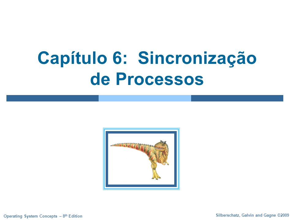 6.42 Silberschatz, Galvin and Gagne ©2009 Operating System Concepts – 8 th Edition Solução para o problema dos Filósofos monitor DP { enum { THINKING; HUNGRY, EATING) state [5] ; condition self [5]; void pickup (int i) { state[i] = HUNGRY; test(i); if (state[i] != EATING) self [i].wait; } void putdown (int i) { state[i] = THINKING; // test left and right neighbors test((i + 4) % 5); test((i + 1) % 5); }