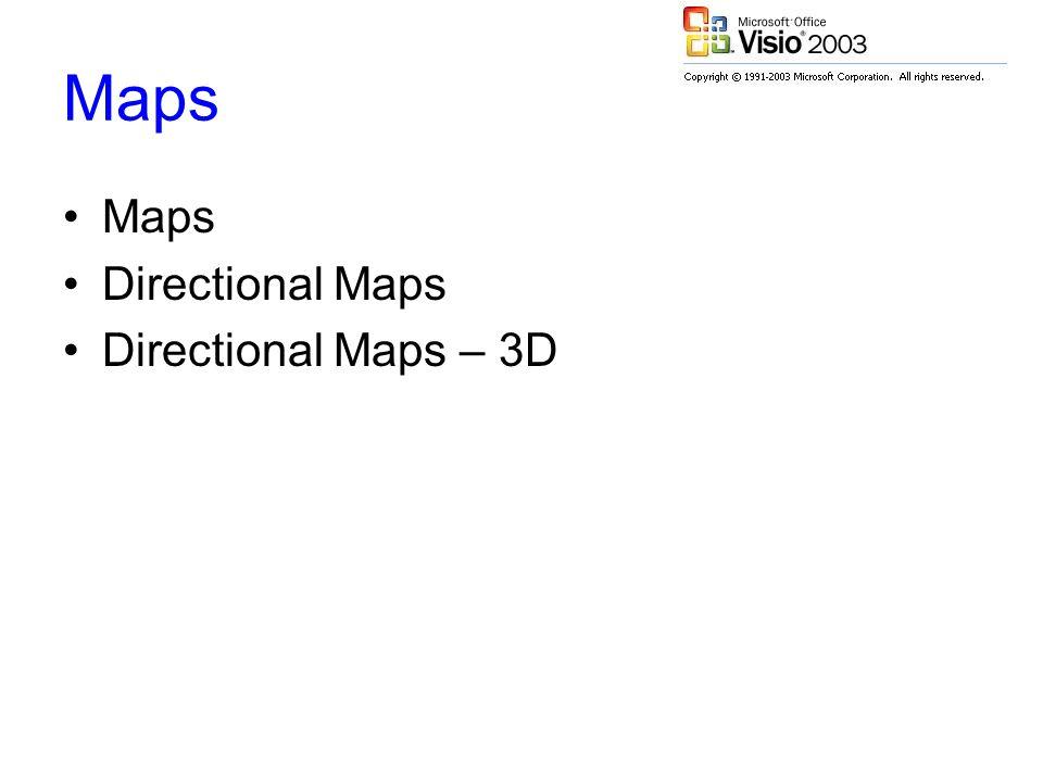 Maps Directional Maps Directional Maps – 3D