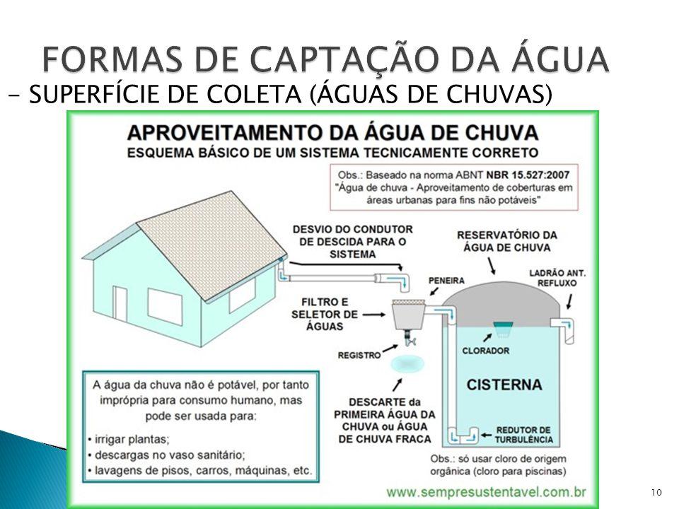 10 - SUPERFÍCIE DE COLETA (ÁGUAS DE CHUVAS)