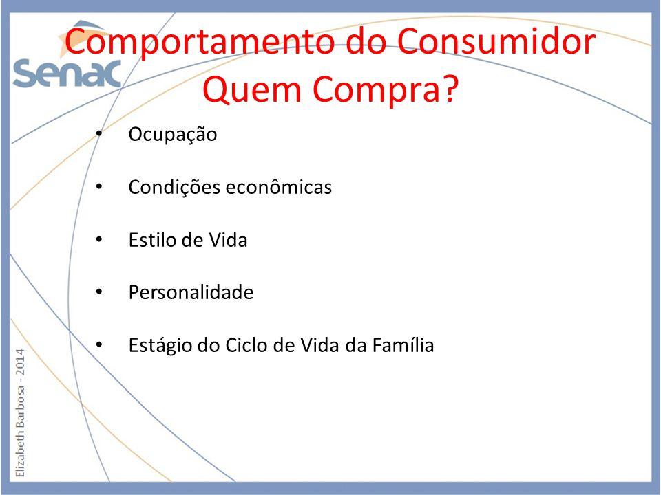 Comportamento do Consumidor Quem Compra.