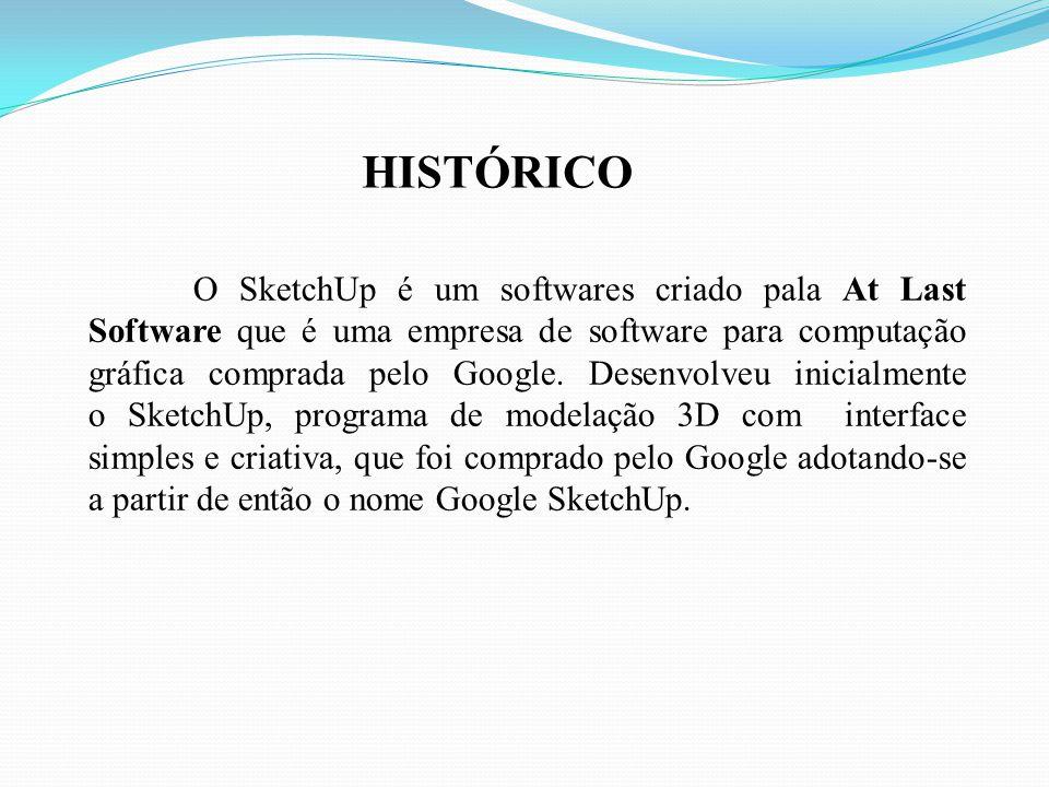 O SketchUp é um softwares criado pala At Last Software que é uma empresa de software para computação gráfica comprada pelo Google.