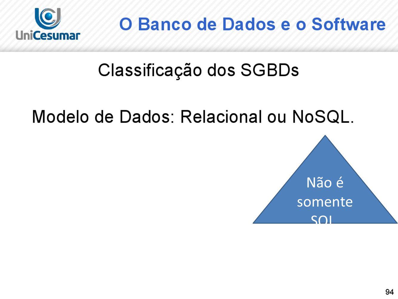 Não é somente SQL.