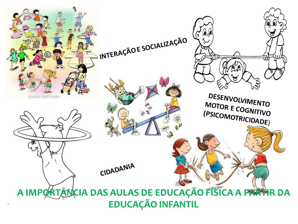 DESENVOLVIMENTO MOTOR E COGNITIVO (PSICOMOTRICIDADE) INTERAÇÃO E SOCIALIZAÇÃO CIDADANIA A IMPORTÂNCIA DAS AULAS DE EDUCAÇÃO FÍSICA A PARTIR DA EDUCAÇÃ