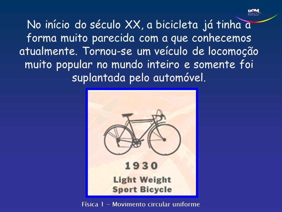 No início do século XX, a bicicleta já tinha a forma muito parecida com a que conhecemos atualmente. Tornou-se um veículo de locomoção muito popular n