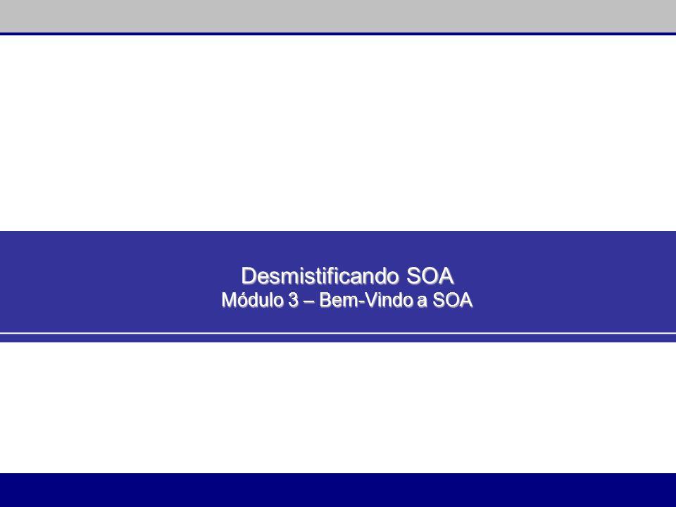 Desmistificando SOA Módulo 3 – Bem-Vindo a SOA