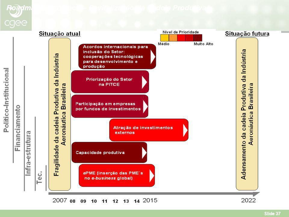 Slide 37 Roadmap Estratégico – Revitalização da Cadeia Produtiva