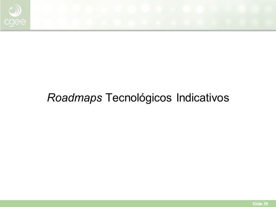 Slide 39 Roadmaps Tecnológicos Indicativos