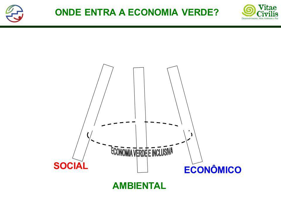 ONDE ENTRA A ECONOMIA VERDE? SOCIAL ECONÔMICO AMBIENTAL