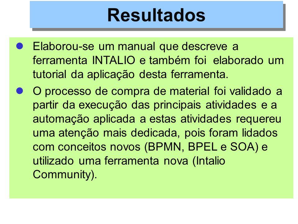 Elaborou-se um manual que descreve a ferramenta INTALIO e também foi elaborado um tutorial da aplicação desta ferramenta. O processo de compra de mate