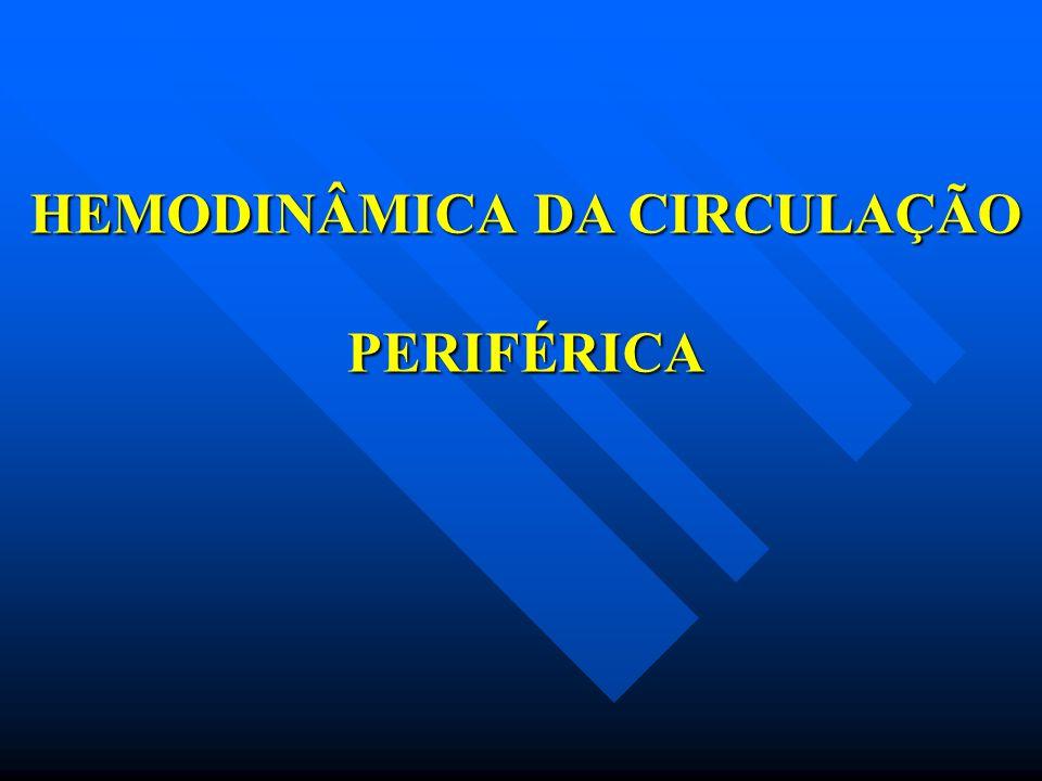 HEMODINÂMICA DA CIRCULAÇÃO PERIFÉRICA