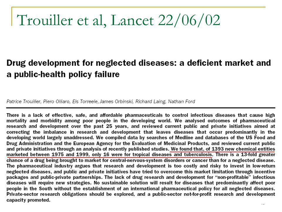 49 Trouiller et al, Lancet 22/06/02