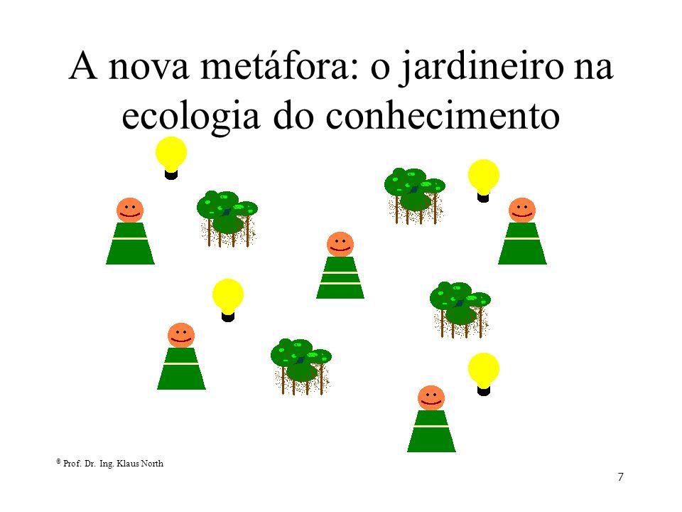 © Prof. Dr. Ing. Klaus North 7 A nova metáfora: o jardineiro na ecologia do conhecimento