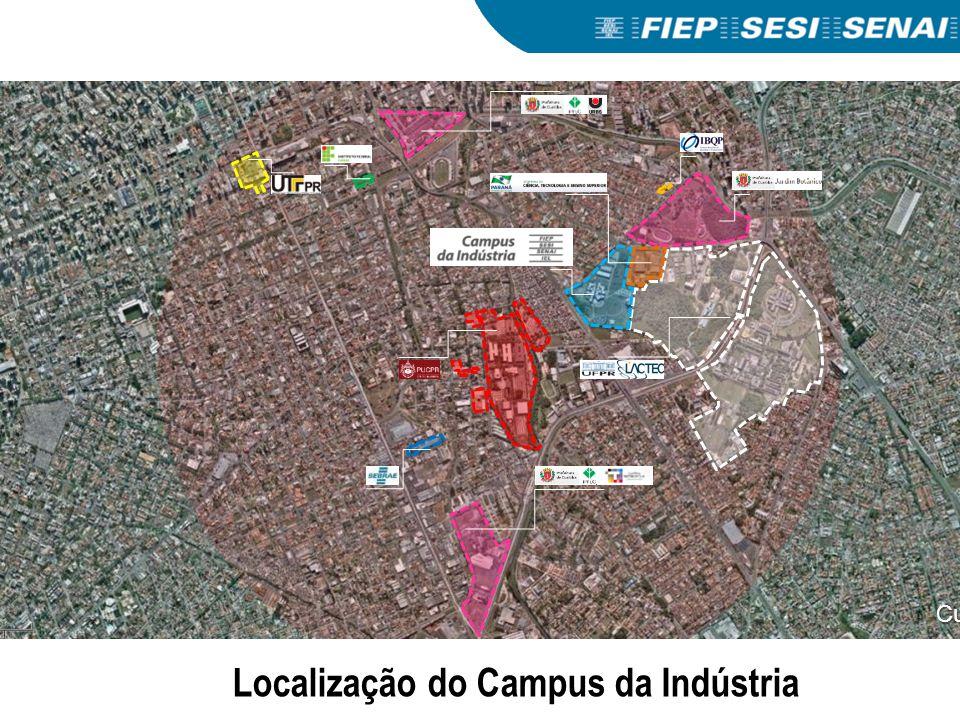 Curitiba Localização do Campus da Indústria