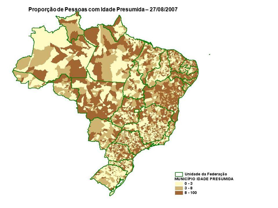 Proporção de Pessoas com Idade Presumida – 27/08/2007