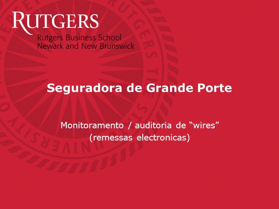 Seguradora de Grande Porte Monitoramento / auditoria de wires (remessas electronicas)