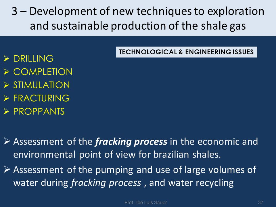 4 – Study of Management, Marketing and policy related t o the shale and oil gas in Brasil  Policy for sustainable production of Shale Gas as Green Energy in Brasil  Potencial Market and production strategy  Risks, prices and investiments in shale gas busines  Impacts in the gas global market.