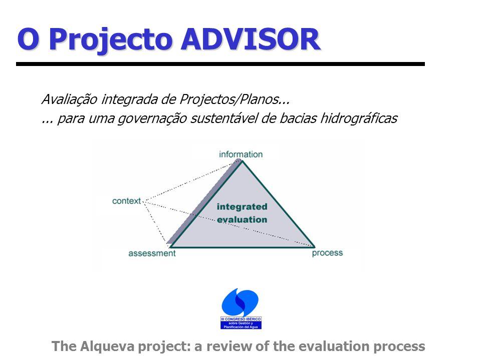 O Projecto ADVISOR Avaliação integrada de Projectos/Planos......