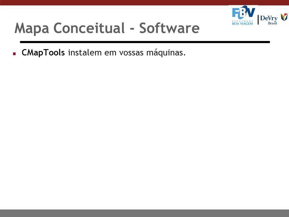 Mapa Conceitual - Software n CMapTools instalem em vossas máquinas.
